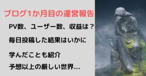 ブログ初心者_1か月目_PV_収益